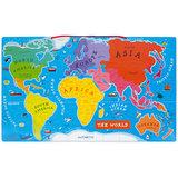 Janod Wereldkaart magnetisch - de wereld (ENG)_