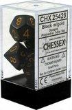 Chessex Dice Set Opa Poly Black/Gold CHX 25428_