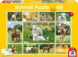 Schmidt Puzzel Jonge Boerderijdieren 100 stukjes_