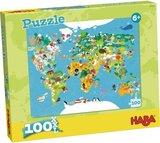 HABA Puzzel Wereldkaart_