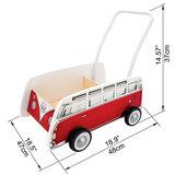 Hape Classical Bus T1 Walker, Red_