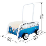 Hape Classical Bus T1 Walker, Blue_