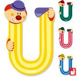 Janod Clown Letter U_