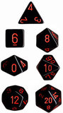 Chessex Dice Set Opa Poly Lt. Black/Red CHX 25418_