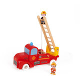 Janod Brandweerwagen met 2 brandweermannen_