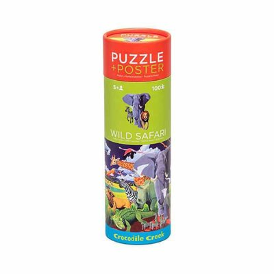 Crocodile Creek Puzzel & Poster Wild Safari