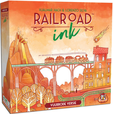 Railroad Ink Vuurrode versie White Goblin Games