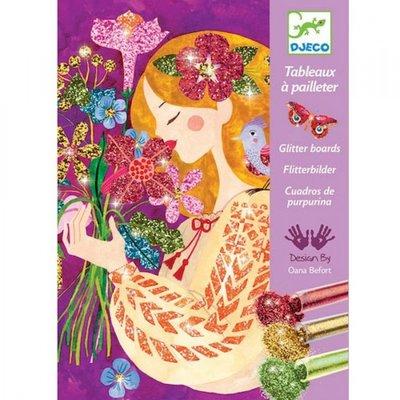 Djeco Glitterschilderijen - The Scent of Flowers