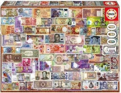 Educa Puzzel Bankbiljetten van over de hele wereld