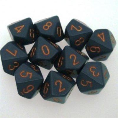 Chessex Dice Set Dark Grey With Copper CHX 25220