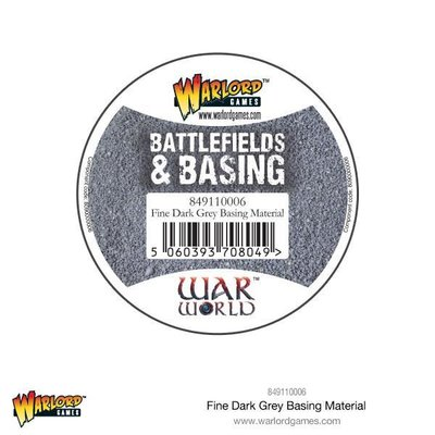 Fine Dark Grey Basing Material 180 ml Warlord Games