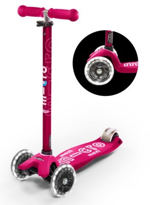 Micro Step Maxi Deluxe Roze LED