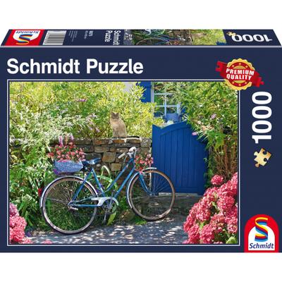 Schmidt Puzzel Fiets in de Tuin