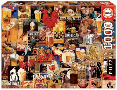Educa Puzzel Vintage Beer Collage