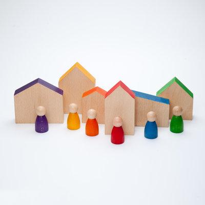 Grapat Huisjes met poppetjes