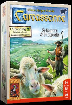 Carcassonne :Uitbreiding  9 Schapen En Heuvel 999-Games