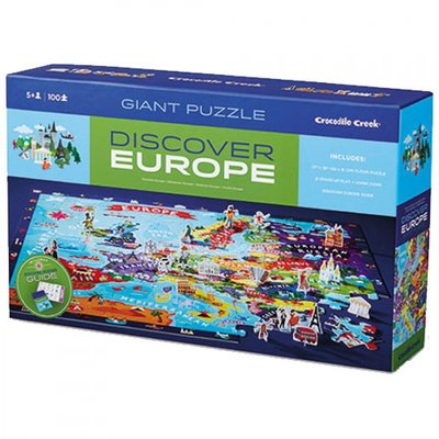 Crocodile Creek Discover Puzzel Europa