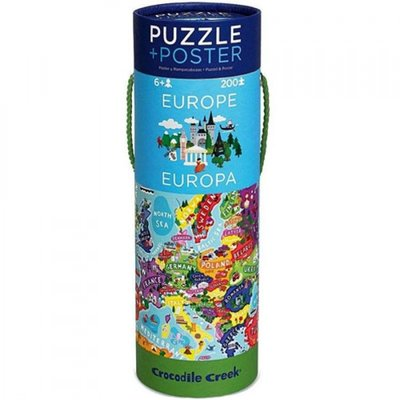 Crocodile Creek Puzzel & Poster Europa