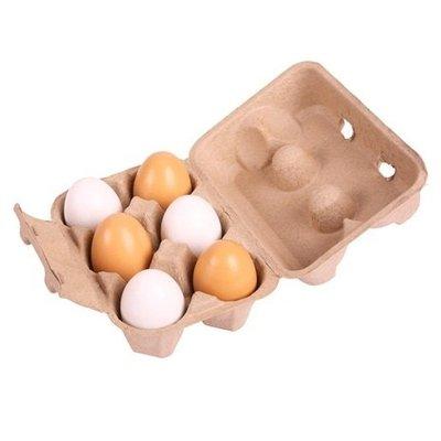Bigjigs Doosje met 6 eieren