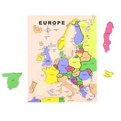 Bigjigs Landen puzzel Europa (in het Engels)