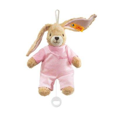 Steiff Hoppel rabbit music box rose 237584