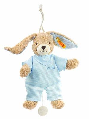 Steiff Hoppel rabbit music box  blue 237515