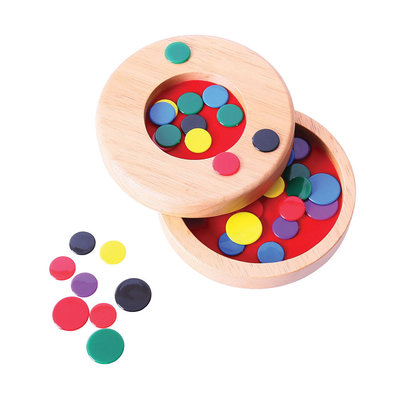 Bigjigs Wooden Tiddly Winks Game