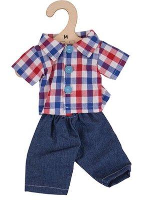 BIGJIGS  kledingset  blouse met spijkerbroek (maat M)