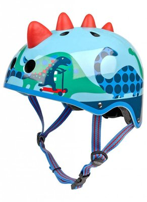 Micro Step Helm 3D Dino blauw Small