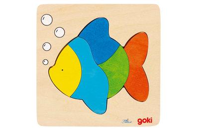 Goki Inlegpuzzel Vis