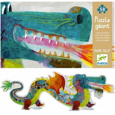 Djeco Giant Puzzle - Leon the Dragon 58 pcs