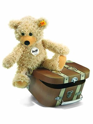 Steiff Charly dangling Teddy bear in suitcase 012938