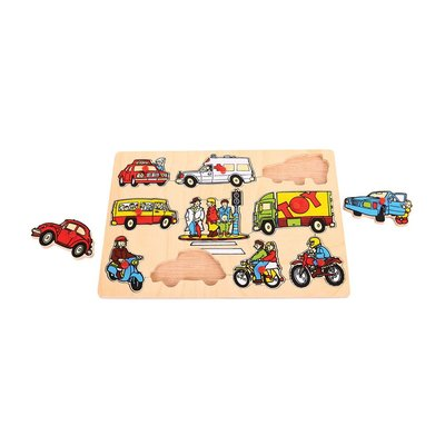 Bigjigs Transport  lift out puzzle