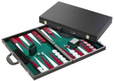 Backgammon zwart de Luxe