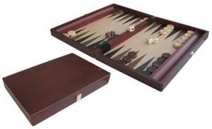 Backgammon kist bruin hout