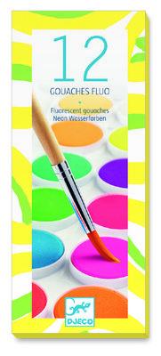 Djeco 12 fluorescent gouaches