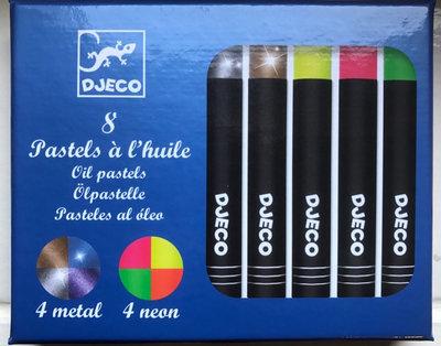 Djeco 8 oil pastels - pop colours