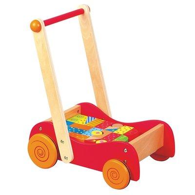 Lelin Toys Loopwagentje met blokken