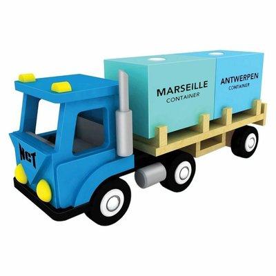 New Classic Toys Containertruck met 2 containers havenlijn