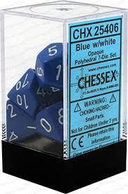Dobbelsteenset blauw wit CHX25406