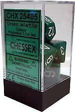 Dobbelsteenset groen wit CHX25405