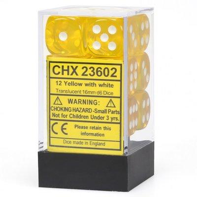 Dobbelsteenset geel wit CHX23602