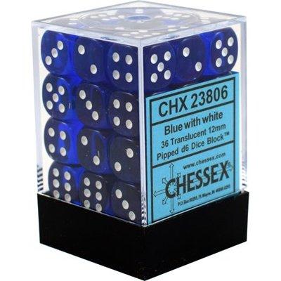 Dobbelsteenset blauw wit CHX23806