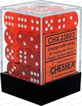 Dobbelsteenset oranje wit CHX23803