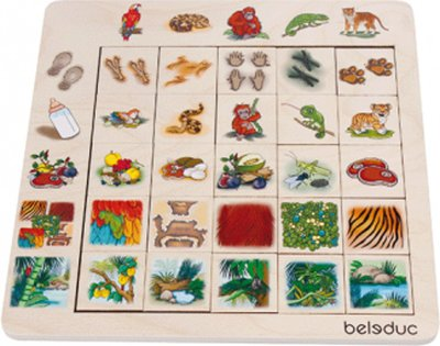 Beleduc Sorteerpuzzel Jungle
