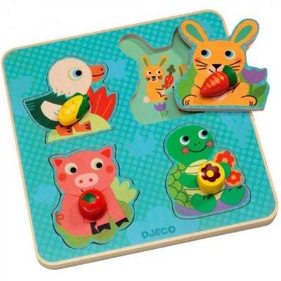 Djeco Croc-carrot puzzle