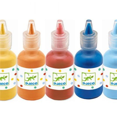 Djeco 8 gouache bottles
