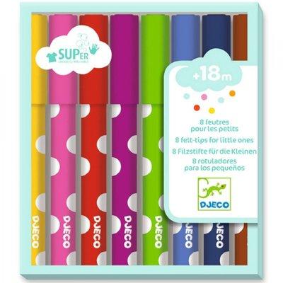 Djeco 8 felt-tip pens for young children