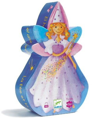 Djeco Silhouette Puzzle - The fairy and the unicorn 36 pcs