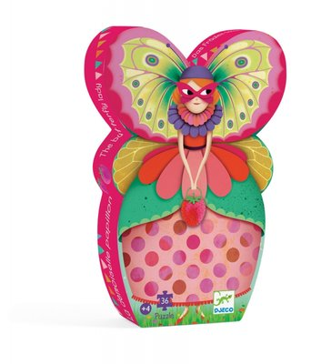 Djeco Silhouette Puzzle - The butterfly lady 36 pcs